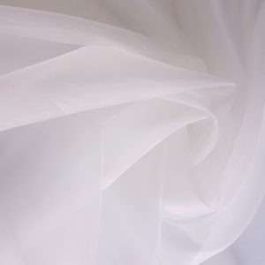 Organza ivory de matase naturala densitate 6mm