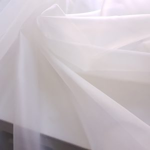 Organza de matase naturala- densitate 6mm - ivory-21687