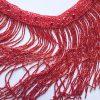 Bordura franjuri din margele- rosu rubin-21646