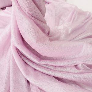 Tul roz pudra din matase naturala cu pelicula