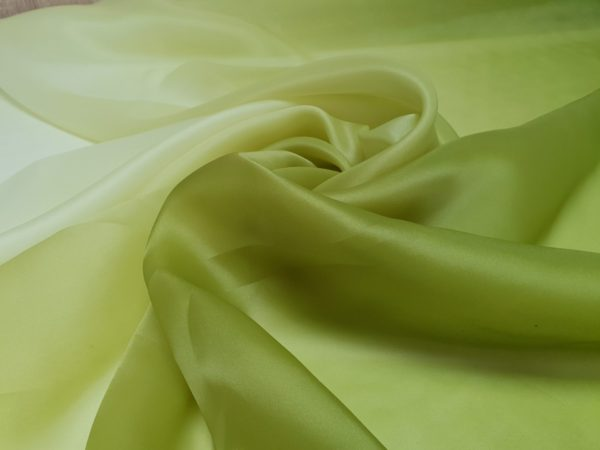 Organza verde olive in degrade