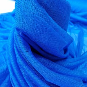 Tul peliculizat albastru royal din matase naturala