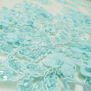 Broderie 3D - aquamarine