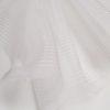 Crinolina alba cu dungi inserate