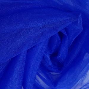 tul fin albastru royal