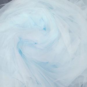 tul fin bleu aqua