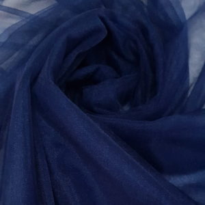 tul fin bleumarin