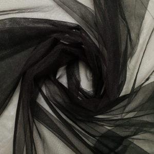 tul fin negru