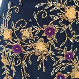 Broderie couture blue & gold