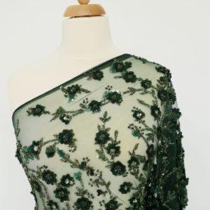 Broderie verde padure lucrata manual