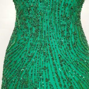Broderie clepsidra verde smarald