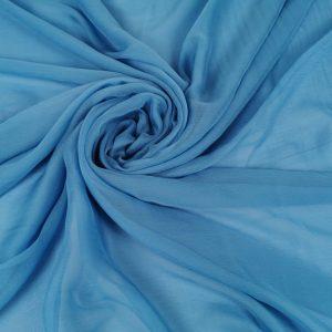 Voal creponat Blue Danube Muselina din matase naturala