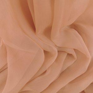 Voal creponat nude piersica Muselina din matase naturala