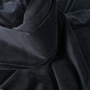 Catifea neagra din bumbac cu elastan