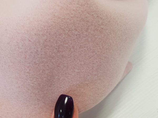 Stofa groasa roz pudra din lana si casmir