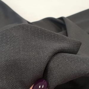 Stofa gri gofrat pentru costum din lana