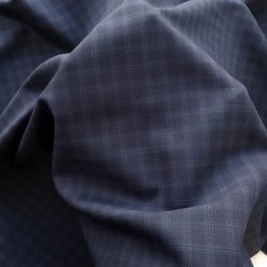 Stofa bleumarin pentru costum din lana 100% Italia