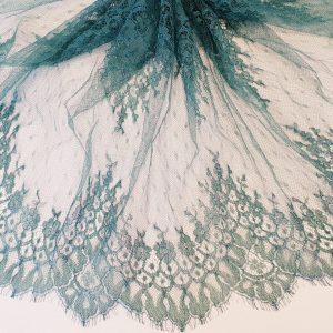 Bordura verde turquoise din dantela Jean Bracq