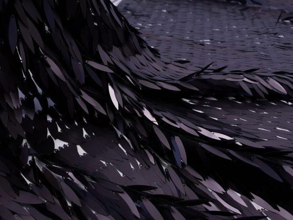 Paiete couture negru mat