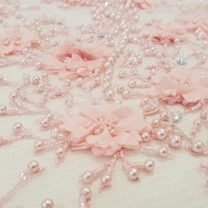 Broderie 3D roz deschis