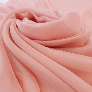 Dusty peach Voal chiffon