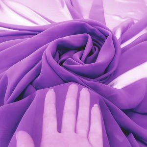 Purple Voal chiffon