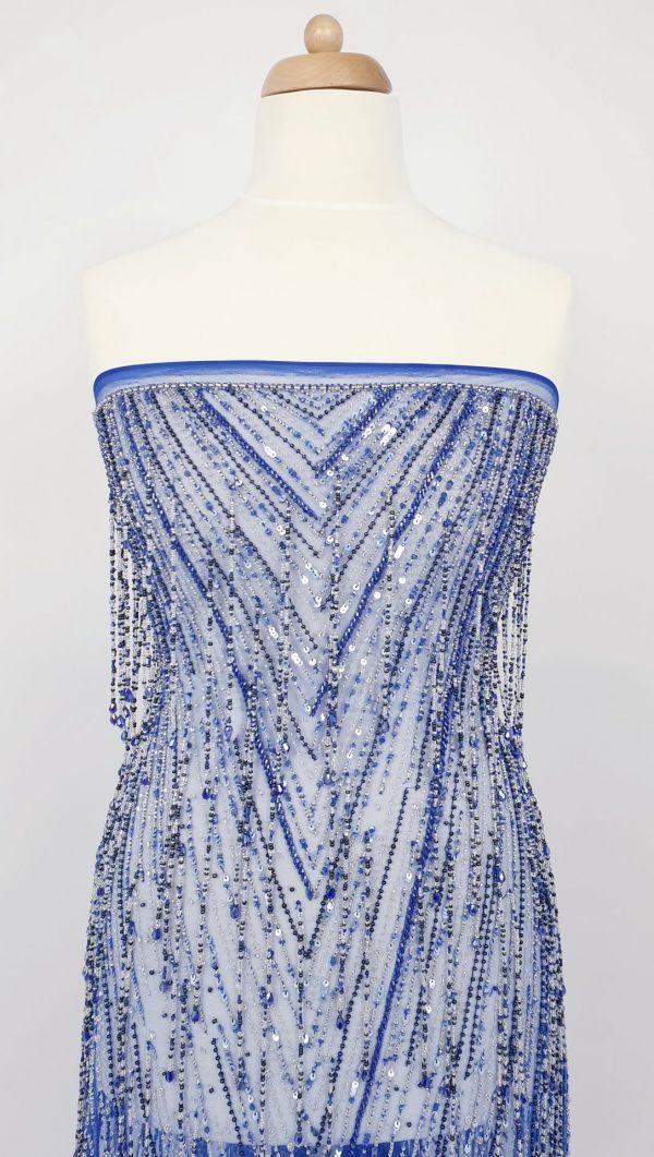 Broderie albastru royal design Georges Hobeika
