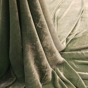 Catifea verde menta matase naturala 100%