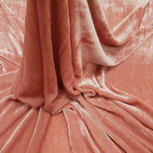 Catifea roz prafuit matase naturala 100%