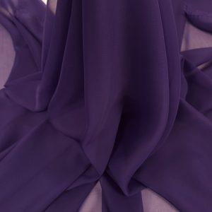 Voal chiffon violet intens
