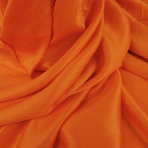 Tesatura foxy orange din matase naturala si bumbac