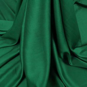 Tesatura verde smarald din matase naturala si bumbac