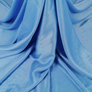 Tesatura baby blue din matase naturala si bumbac