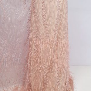 Broderie dusty peach cu fulgi
