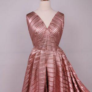 Pliseu roz metalizat