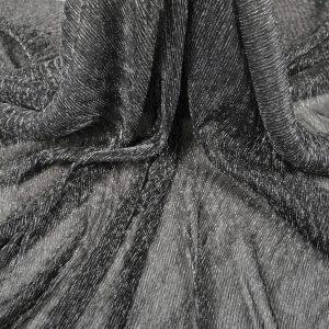Lurex plisat negru