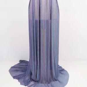 Lurex plisat cameleon lila & bleu