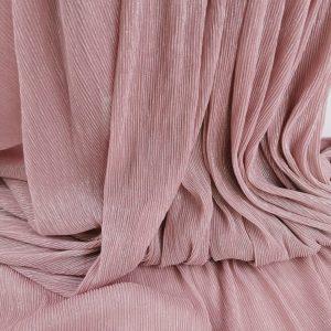 Lurex plisat roz prafuit
