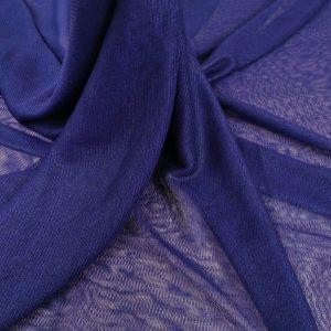 Tul peliculizat navy blue din matase naturala