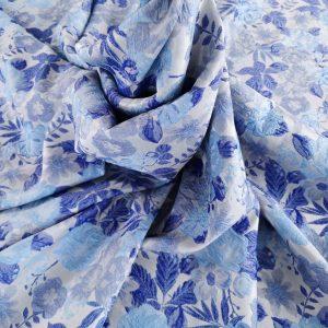 Brocard gofrat bleu & albastru royal