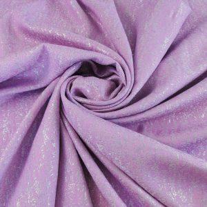 Brocard roz lila cu insertii argintii