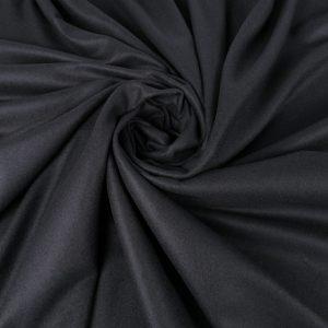 Stofa neagra din lana si casmir