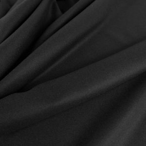 Stofa neagra subtire din lana si casmir