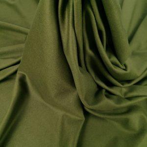 Stofa verde militar din casmir si lana