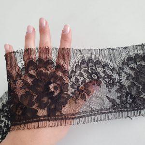 Bordura dantela neagra Sophie Hallette