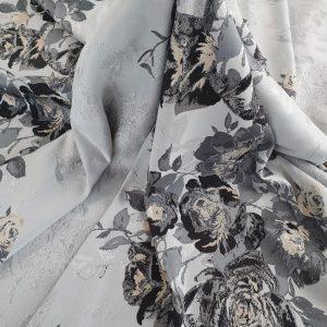 Brocard black & grey cu flori