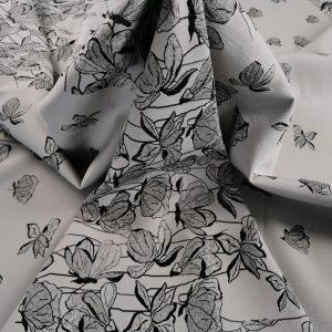 Brocard grey & black cu flori