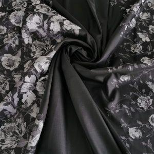 Brocard gri & negru cu flori