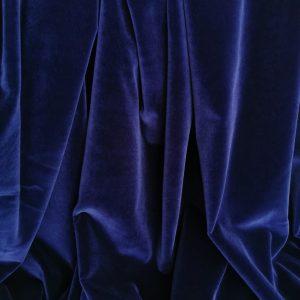 Catifea albastru cerneala din bumbac