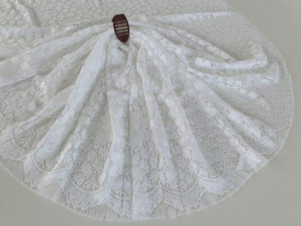 Dantela frantuzeasca alba Solstiss